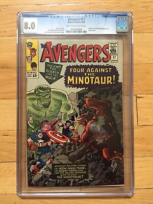 Avengers 17 CGC 8.0 1965 Off-White To White Pages