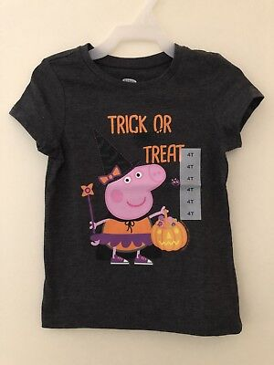 Peppa Pig Trick Or Treat T-shirt 4T Old Navy NWT