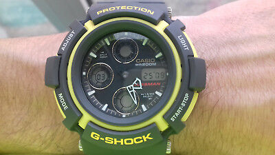 Casio VINTAGE COLLECTION G SHOCK AW-571-9A GAUSSMAN JAPAN AND US WATCH