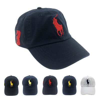 Unisex POLO RL Big Pony Baseball Cap Golf Soccer Hat With Horse No.3 Classic Cap