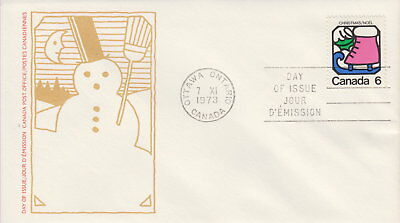 Canada #625 6¢ Christmas Ice Skate First Day Cover