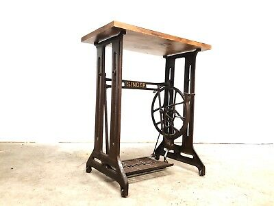 Antique Singer Sewing Machine Coffee / Side / Hall Table Reclaimed Vintage