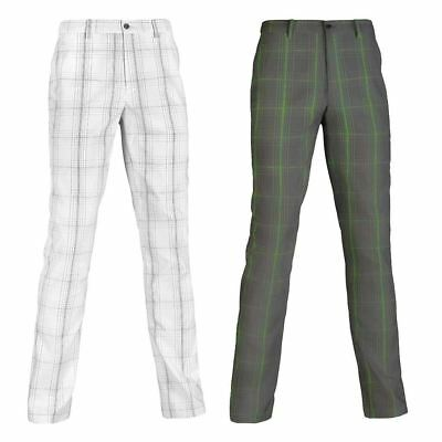 58%Off Rrp Mizuno Golf Fineline Check Pants Mens Performance Flat Front Trousers