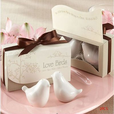 2 Pcs/Pack Love Birds Ceramic Shaker Spice Jar Kitchen Tools Wedding Favors Gift