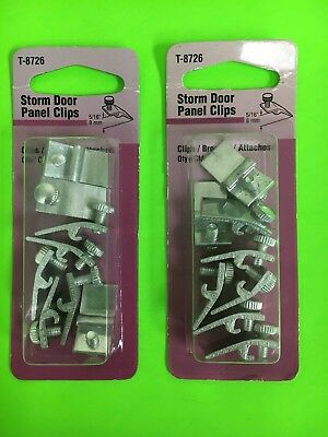 "2 X Prime-Line Pack of 8- 5/16"" Aluminum Storm Door Panel Clip Fasteners T-8726"