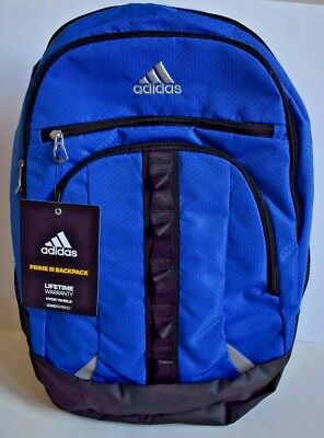 1895c3a9bde1 NEW Adidas Prime III Backpack Laptop Hydroshield Loadspring Royal Blue