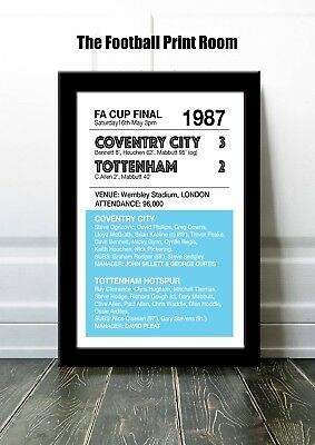 Coventry City Framed Print - 1987 Fa Cup Final - Coventry 3 Spurs 2