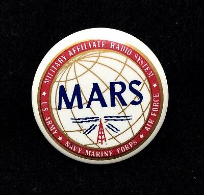 Vintage MARS Military Affiliate Radio System Button Pin Small