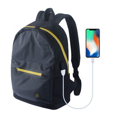Business Laptop Reflective Backpack,Travel Anti Theft Computer with USB Charging