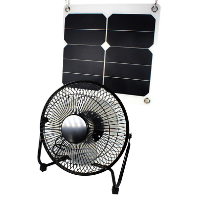 10W Solar Panel Fan Outdoor Home Chicken House RV Car Ventilation System US NEW