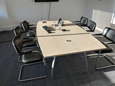 Meeting Room Boardroom Table. Beech colour