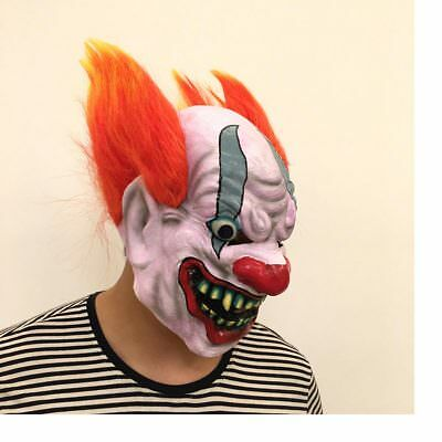 NEW Natural Latex Funny Clown Ghost Props Cosplay Halloween Mask Play DG193