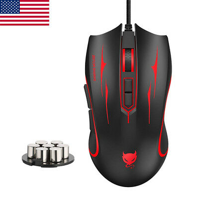 Portable Optical Wired Game Mouse LED Mice 4000 DPI For PC Laptop Computer