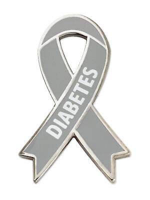 12 GRAY AWARENESS RIBBON PINS grey diabetes asthma brain cancer FUNDRAISERS