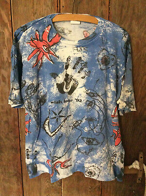 Original Vintage THE CURE Wish Tour '92 All Over Print Band T-Shirt