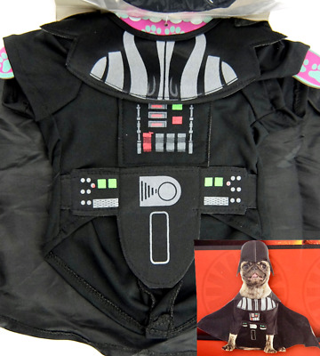 Dogs Darth Vader Costume Rubies Star Wars 2 Piece Halloween Outfit Size Small