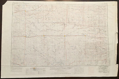 Original Vintage 1965 Scott City Kansas Topo Map USGS 1:250,000