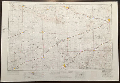 Original Vintage 1975 Dodge City Kansas Oklahoma Topo Map USGS 1:250,000