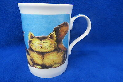 "Crown Trent ""Comic Cats"" Fine Bone China England Cat Coffee Tea Mug"