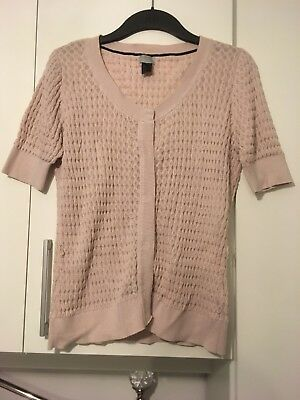 Ladies Girls XS H&M Pink Knit Short Sleeve Jumper Tshirt
