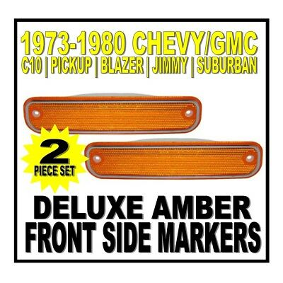 United Pacific 1973-80 Chevy Gmc Truck Front Led Side Marker Light with Trim Red 74 75 76