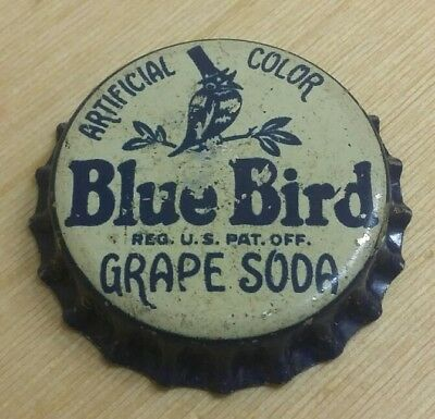 BLUE BIRD  Usa alten kronkorken chapa  tappo corona bottle crown cork sughero