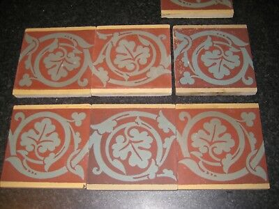 Antique Encaustic Floor Tiles - Sand & Cie, Feignies, France Salvaged, Reclaimed