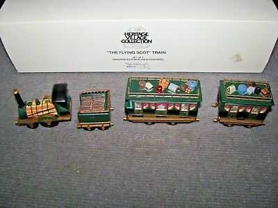 """Vintage Dept 56 Dickens Village """"The Flying Scot Train"""" #5573-5 Christmas"""