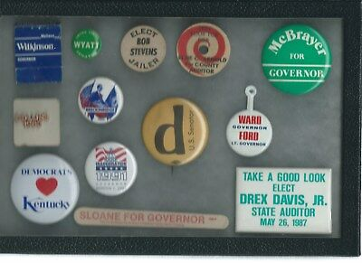Group Lot Kentucky Campaign Buttons Plus