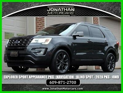 2017 Ford Explorer XLT Sport Appearance 2017 XLT Sport Appearance Used 3.5L V6 24V Automatic 4WD SUV Moonroof Premium