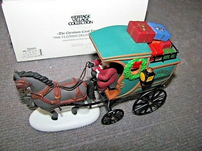 """Vintage Dept 56 Dickens Village """"The Fezziwig Delivery Wagon #58400 Heritage"""