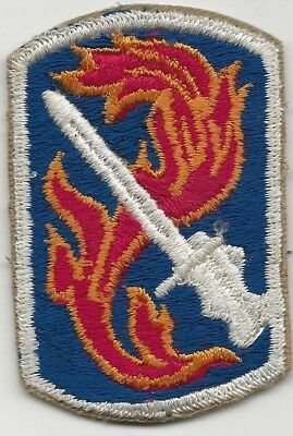 Japanese Made Full Embroidered 198th Light Infantry Brigade Shoulder Patch