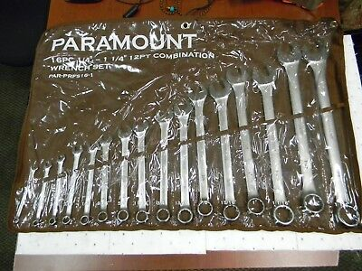 Paramount 16 Piece Combination Wrench Set Comes in Canvas Roll PAR-PRFS16-1