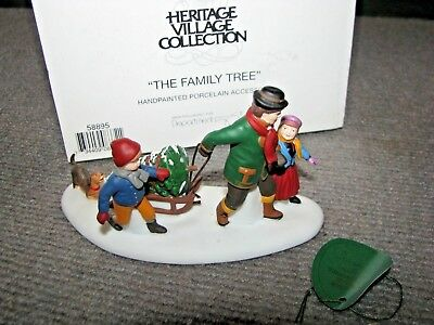 """Vintage Dept 56 Dickens Village """"The Family Tree"""" #58895 Christmas Heritage"""