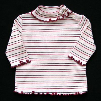 Gymboree Autumn Highlands Striped Turtleneck With Scalloped Edges 0-3 Mos.