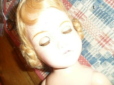 """Vintage Flirty eyed  Madame Alexander composition doll 20-21"""" ivory gown"""