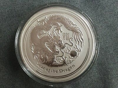 "Silbermünze Lunar II 1 kg 2012 (Drache) 1000g Silbermünze ""Year of the Dragon"""