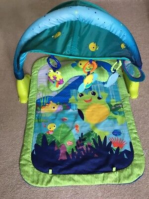 Bright Starts Light Up Lagoon Baby Activity Gym Play Mat Toys Lights & Sounds