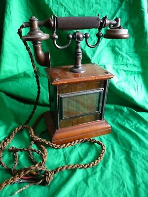 Antique British NT13 hand crank wooden telephone – LM Ericsson - Beeston