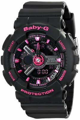 Casio Women's Baby-G Analog-Digital Display Quartz Black Watch BA111-1ACR