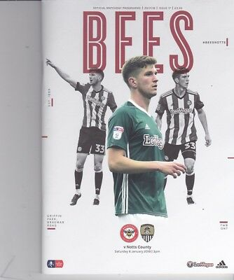 Brentford v Notts County (FA Cup) 06.01.2018