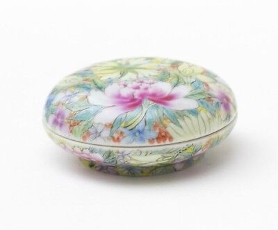 Porcelain seal paste box famille rose, China