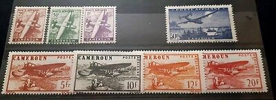 1941 Selection of Cameroon Airmail Stamps  - Unused LH  High c/v