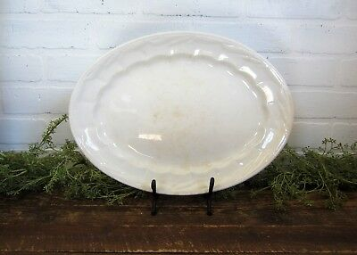 "Antique Wm Adams & Sons Ironstone 14"" Wheat Platter Large Serving Plate England"
