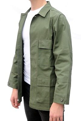 16abce14427 Military Field Jacket American US Army Style BDU Green USA Ripstop Cotton  Shirt
