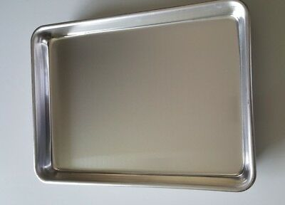 "4 of 9X13"" ALUMINUM COOKIE BAKING SHEETS COMMERCIAL GRADE QUARTER SIZE MADE USA"