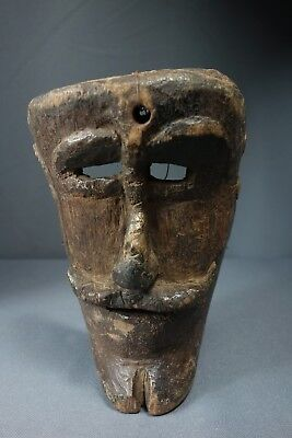 Antique Vintage Hand carved San Simon/Maximo Mask from Solola, Guatemala