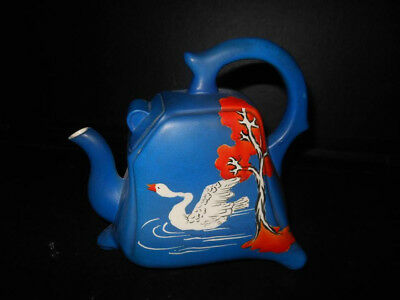Japanese Kinkozan Art Deco Teapot Signed