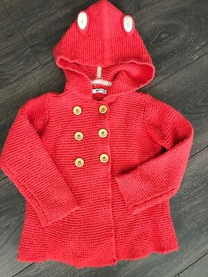 Mini Boden 2-3 Yrs Knit Animal Jacket