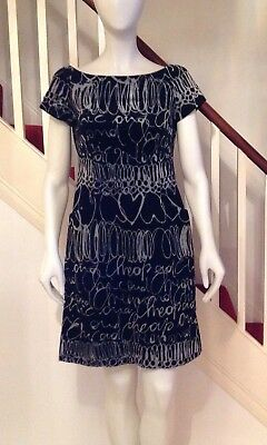 moschino vintage dress With Grey Writing Cheap And Chic Range.  Fully lined.